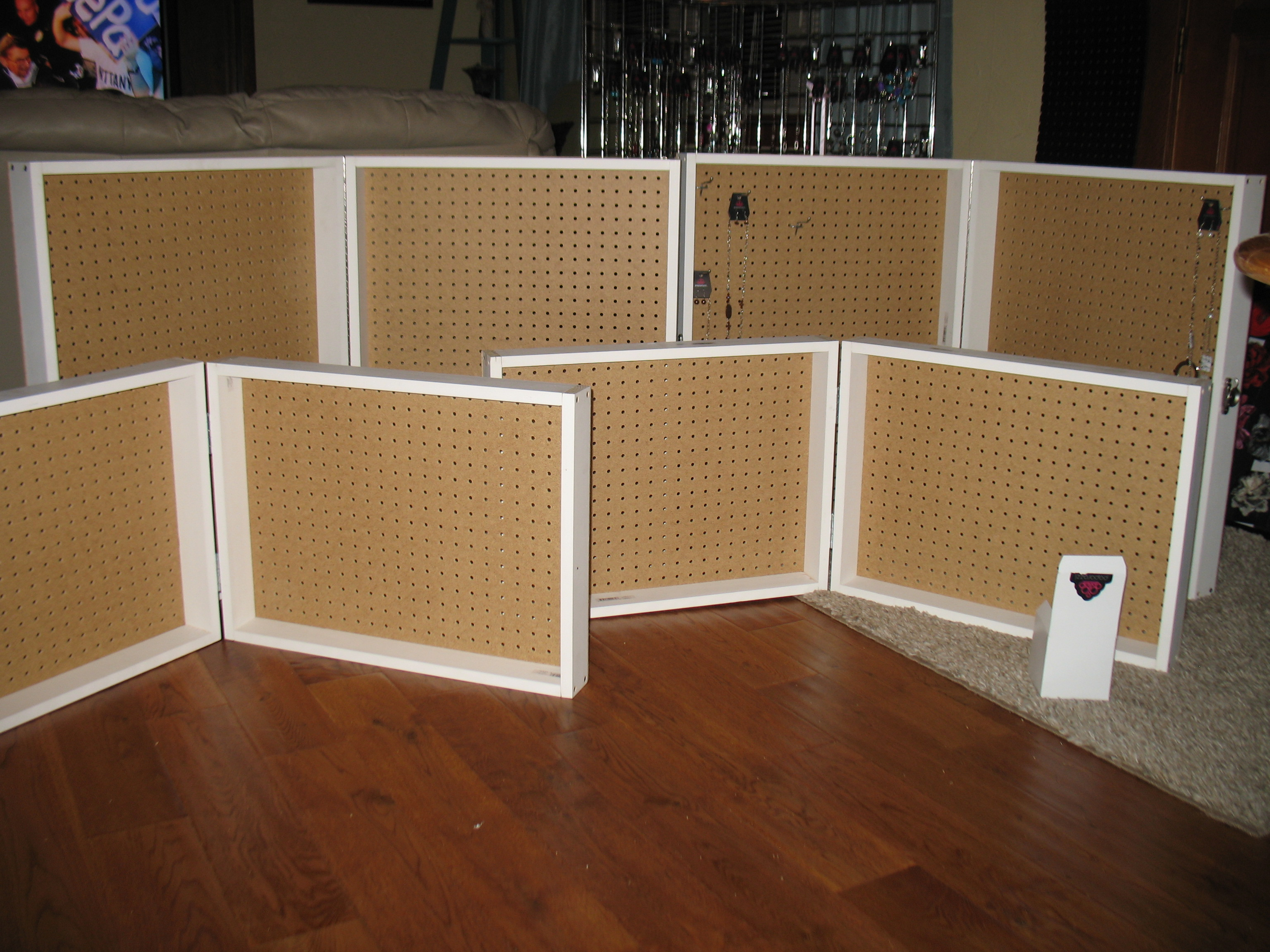 ... Portable Pegboard Display Case! No Need To Ever Take The Jewelry Off  Your Display, Simply Fold Up And Carry It Away! Set Up Will Take About Two  Seconds, ...